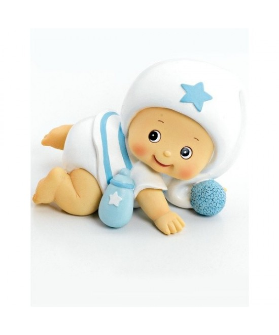 Hucha bebe niño pijama blanco 12 cms