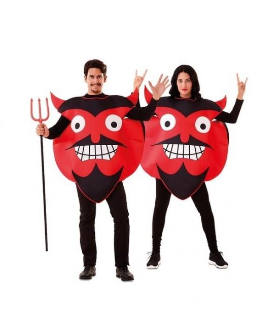 Disfraz Emoticono Diablo adulto