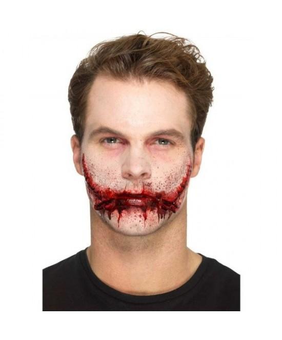 Maquillaje FXs de boca cosida