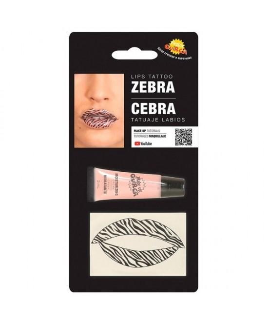 Tatuaje labios cebra con hidratante