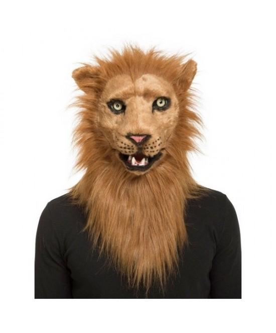 Máscara León con mandíbula movil deluxe