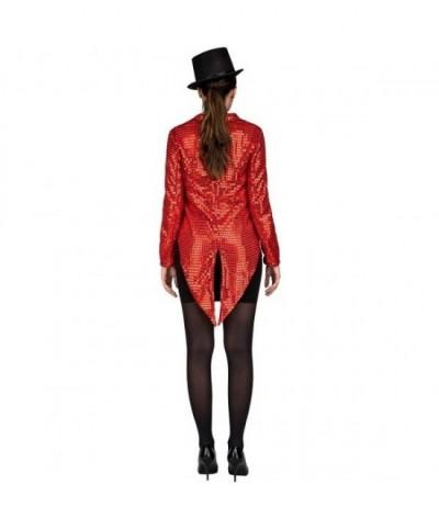 Chaqué con pajarita Rojo para mujer