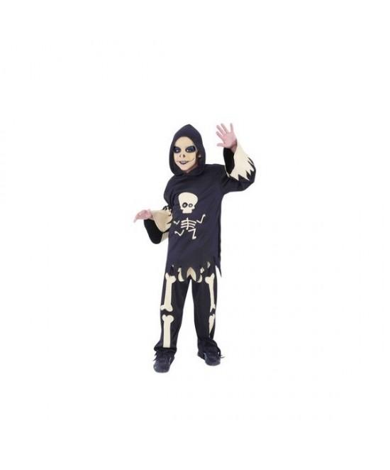 Disfraz Esqueleto ojos moviles infantil