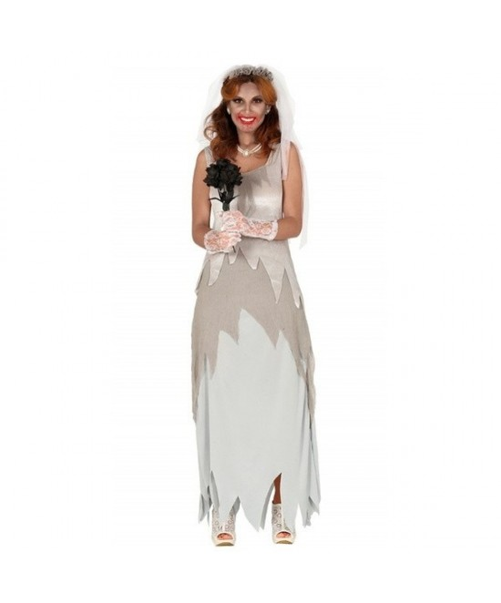 Disfraz Novia Fantasma gris  para mujer