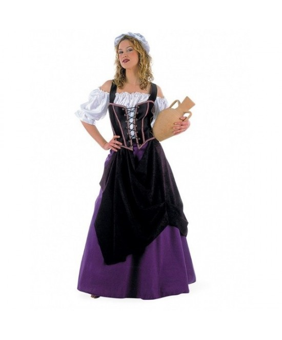 Disfraz Tabernera Medieval mujer Deluxe