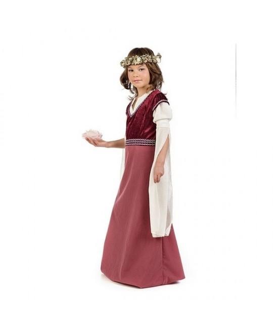 Disfraz Dama Medieval Rosalba niña