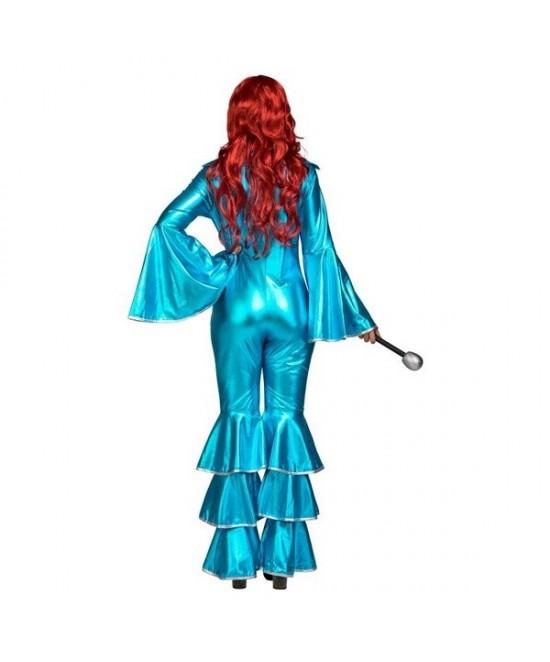 Disfraz Mono Disco Turquesa para mujer