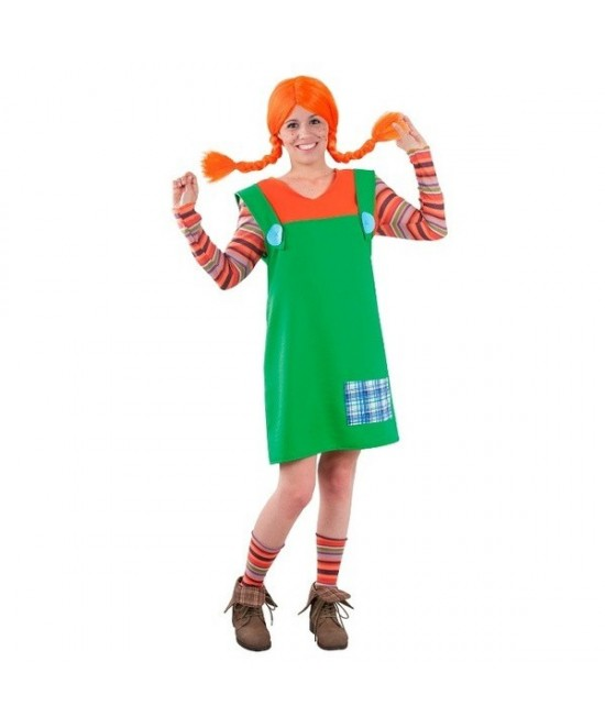 Disfraz niña traviesa coletas adulta