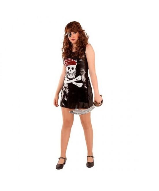 Disfraz Pirata Lentejuelas para mujer