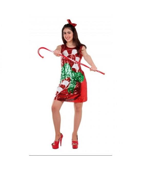 Disfraz Caramelo Lentejuelas para mujer