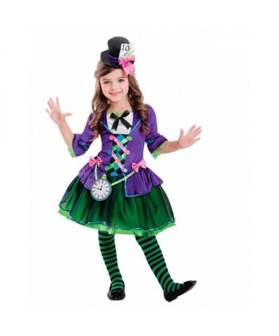 Disfraz Sombrerera  para niña