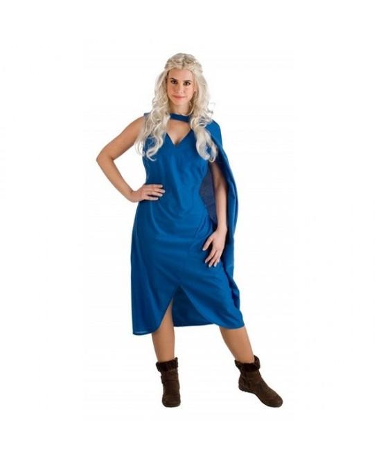 Disfraz Reina Medieval  azul para mujer