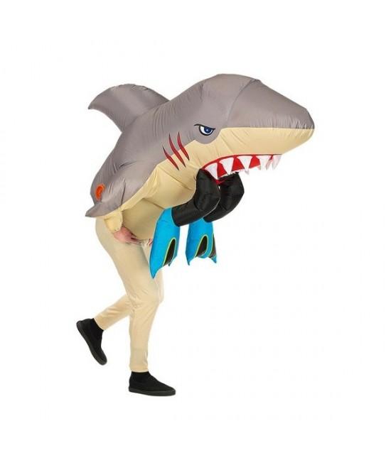 Disfraz Tiburón atacando hinchable
