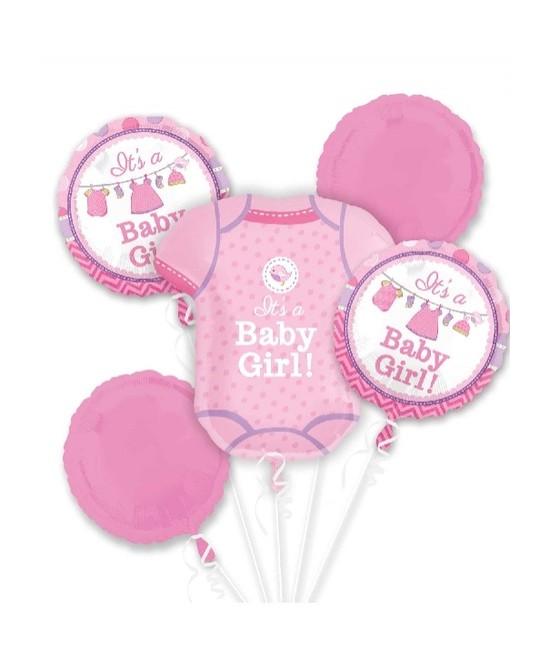Ramo de globos foil Bebé Niña