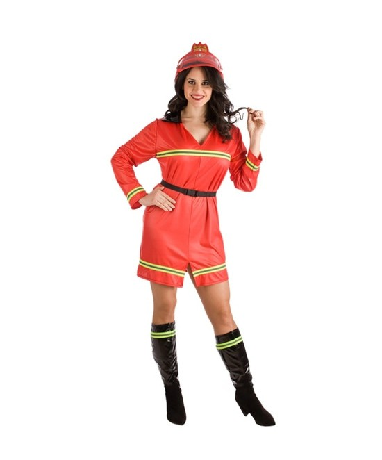 Disfraz Bombera  para mujer