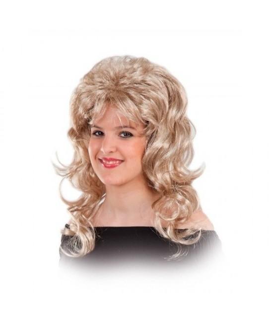 Peluca Disco años 80 rubia mujer