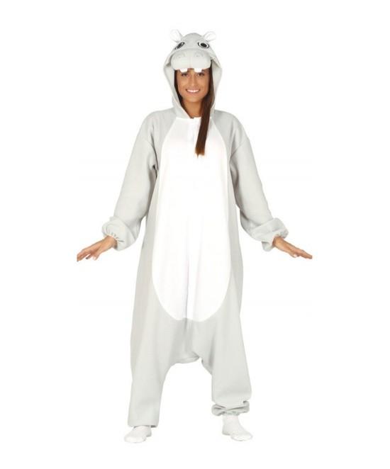 Disfraz Pijama Hipopótamo adulto