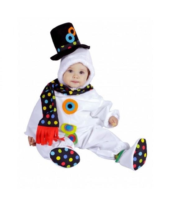 Disfraz Muñeco De Nieve Pelele Bebé