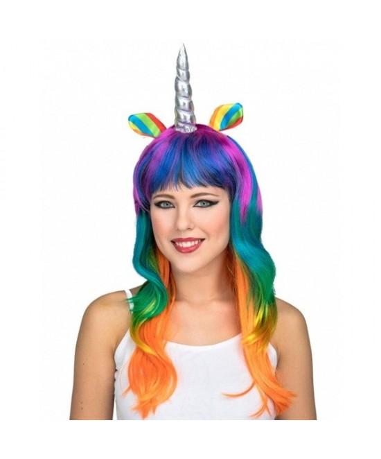 Peluca unicornio multicolor