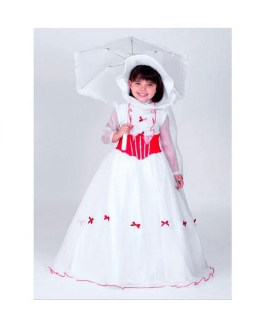 Disfraz Mary blanco infantil