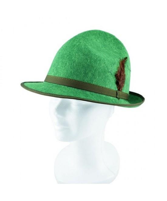 Sombrero Tirolés verde con pluma adulto