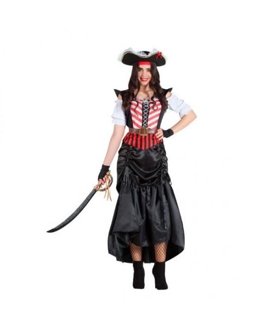 Disfraz Pirata falda larga para mujer