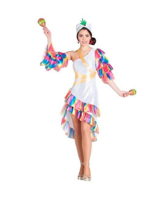 Disfraz Rumbera blanca para mujer