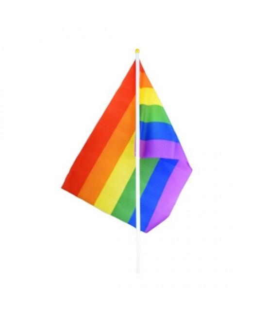 Bandera con palito  Multicolor  pequeña