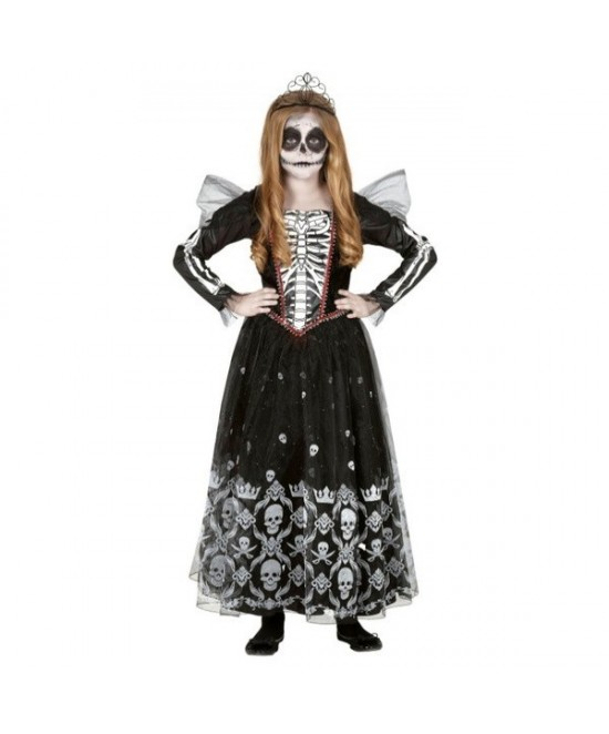 Disfraz Princesa Skeleton niña