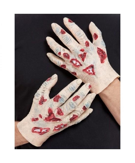 Guantes de Látex de Zombi con sangre