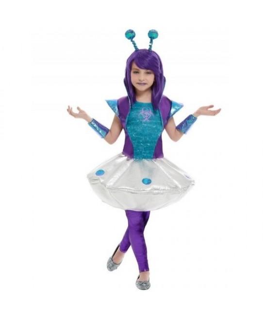 Disfraz Alienígena morada para niña