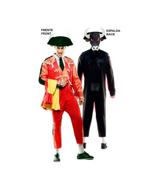 Disfraz doble Fun Torero-Toro adulto