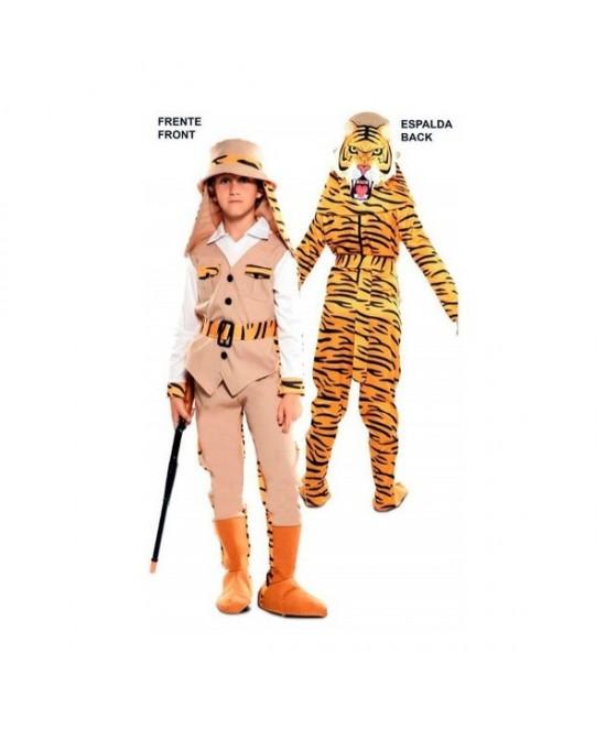 Disfraz doble Fun Cazador-Tigre niño