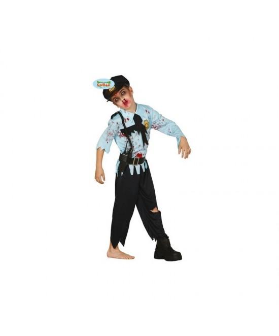 Disfraz Policía Zombie niño