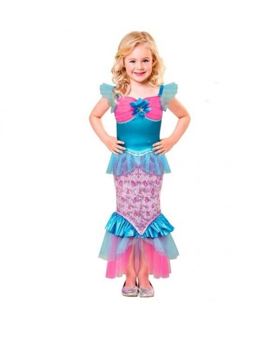 Disfraz de Sirena del mar para niña