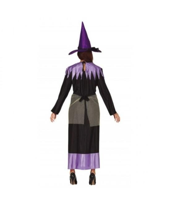 Disfraz bruja lila para mujer