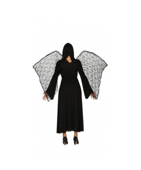 Disfraz  muerte con alas mujer