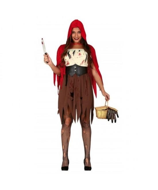 Disfraz caperucita zombie para mujer