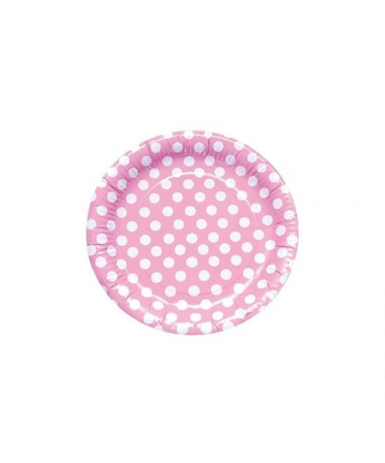 8 Platos Lunares Rosa 23cm