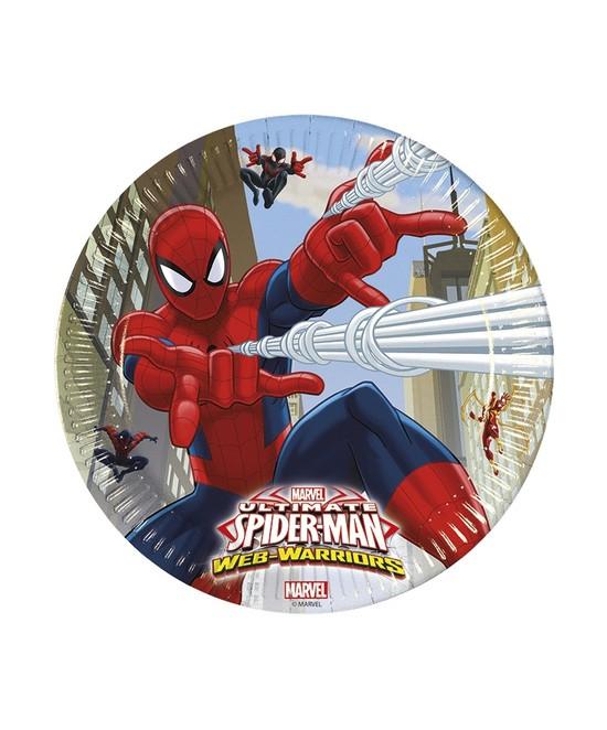 Platos Ultimate Spiderman 23 Cm. 8 unid.