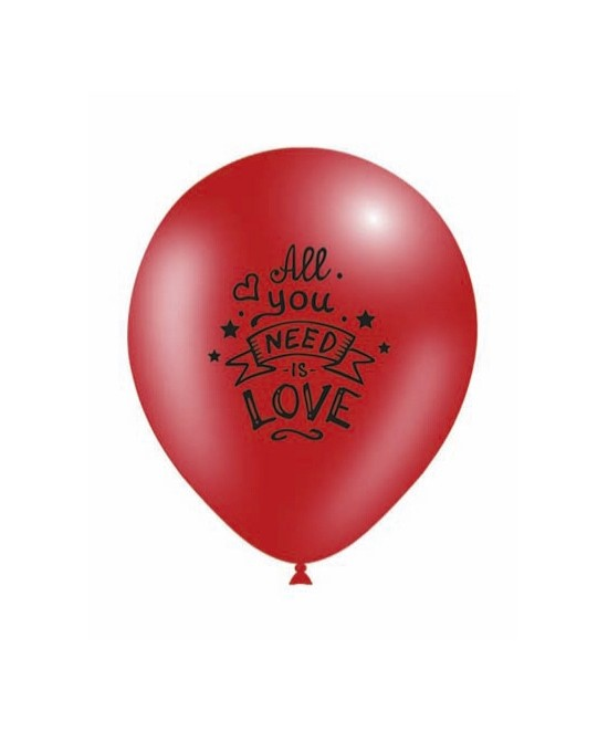Blister 8 Globos All You Need Is Love