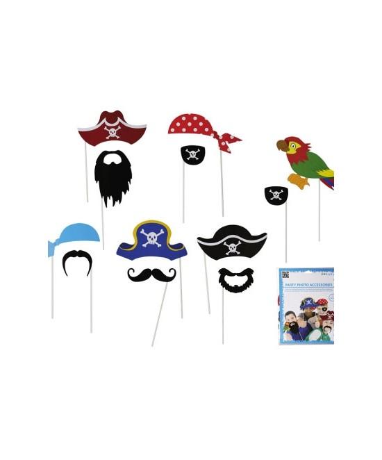 Accesorios Photocall  Piratas 12 piezas