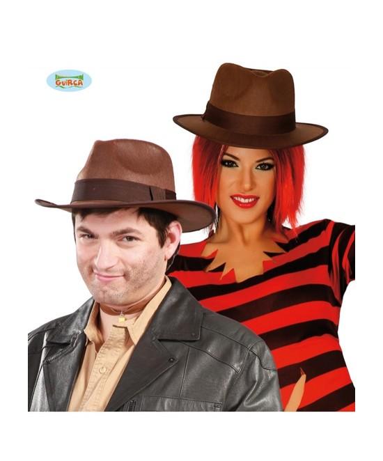 Sombrero Indiana Marrón Adulto