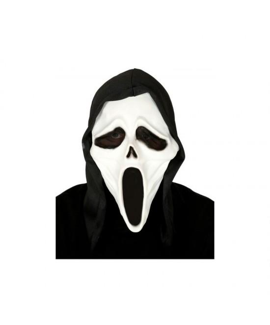 Máscara Asesino látex con capucha