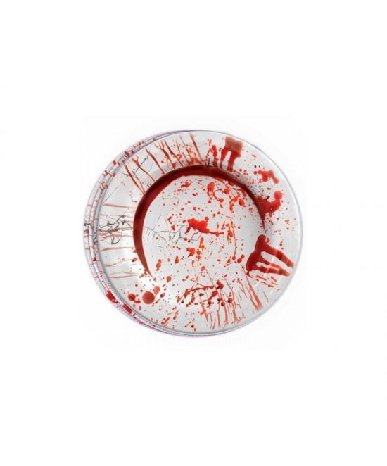 Blister 8 platos sangre 23 cms.