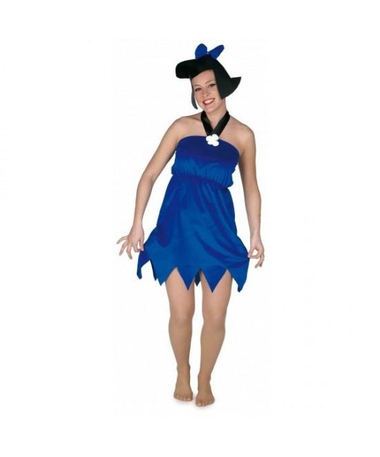 Disfraz Cavernícola azul mujer