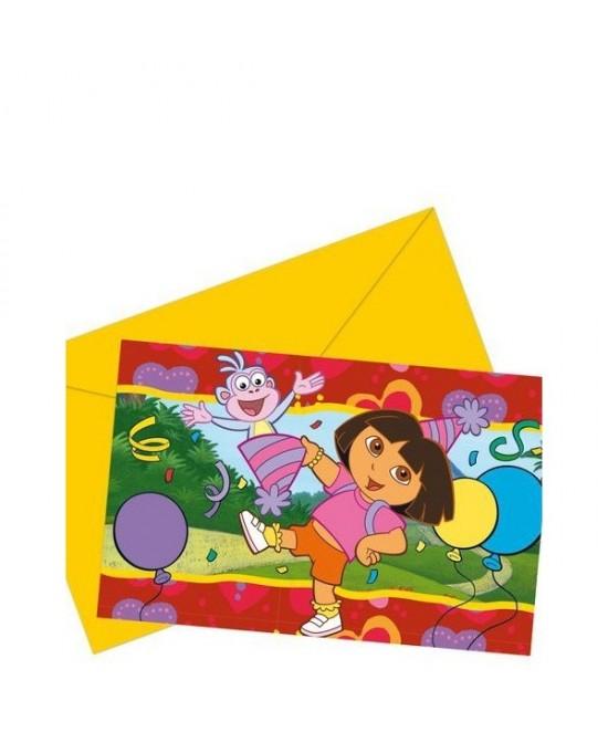 Polybag 6 Invitaciones Dora Party
