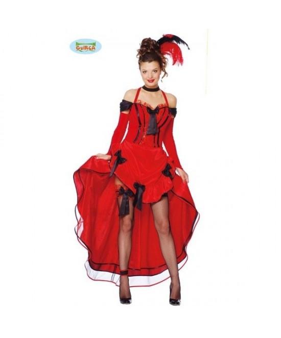 Disfraz Can Can Rojo mujer