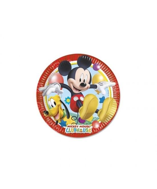 Platos Mickey  8 Unid.desechables