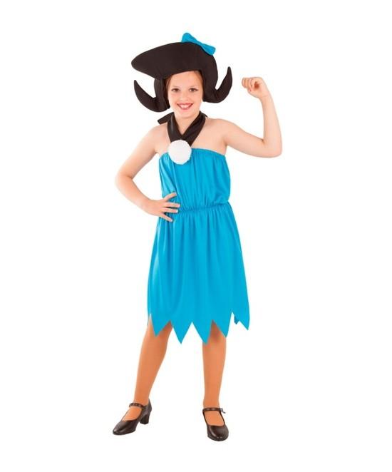 Disfraz Troglodita azul para niña